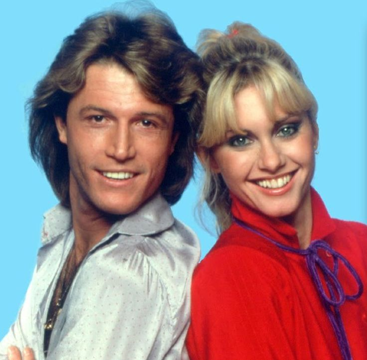 Olivia and Andy Gibb