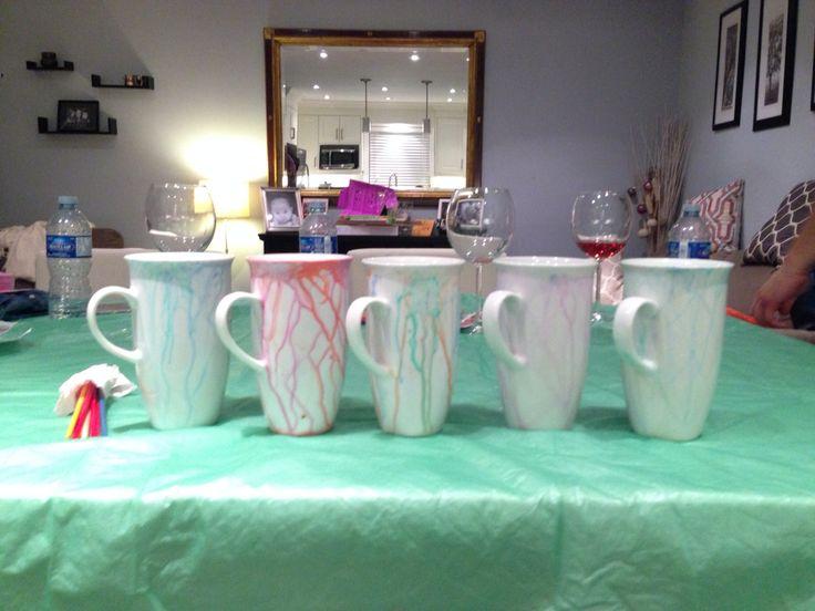 March 2015 - Pretty watercolour mugs!