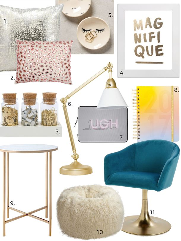 Affordable Style: Dorm (& Budget Bedroom) Glitzy Glam Design Finds   Apartment Therapy