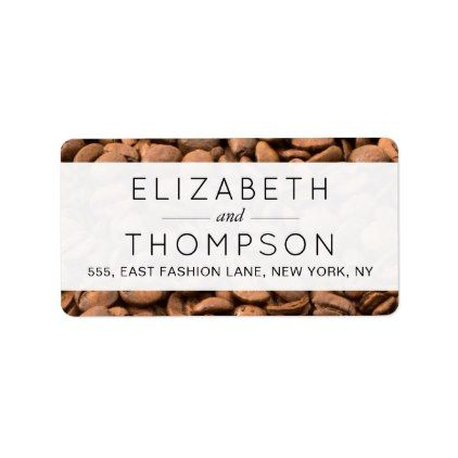 Wedding - Roasted Arabica Coffee Beans - Brown Label - labels customize diy cyo personalize