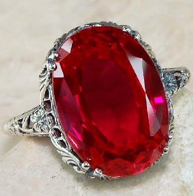 6 carat ruby & solid sterling