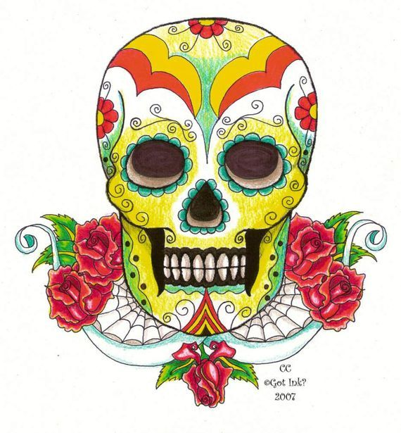 Mexican Skull Art   Mexican skulls inspiration