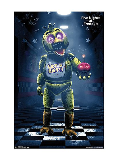 Five Nights At Freddy's Chica PosterFive Nights At Freddy's Chica Poster,