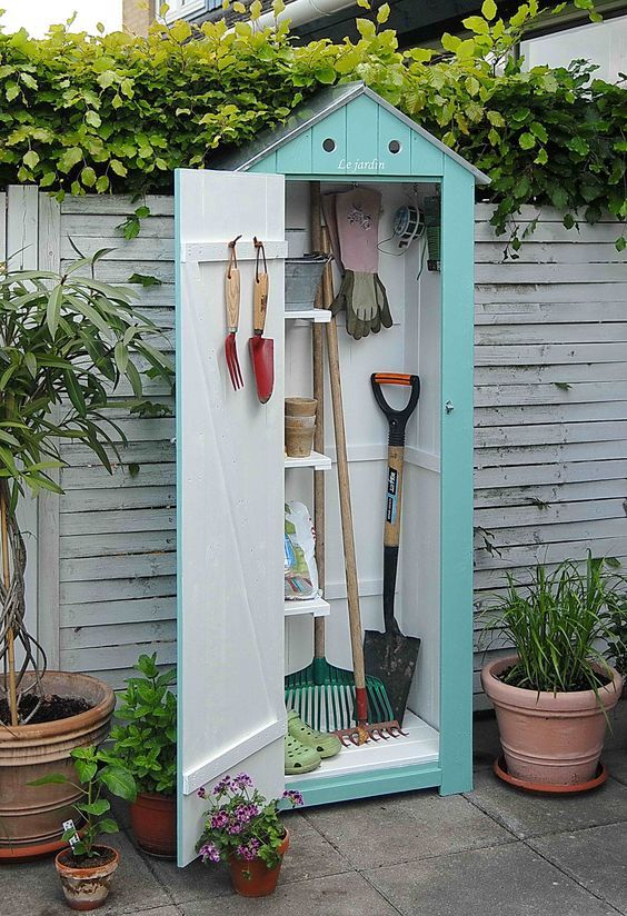 Mini garden shed for tools