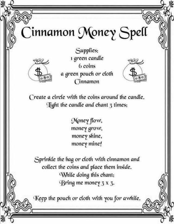 Money spell- Pinned by The Mystic's Emporium on Etsy:
