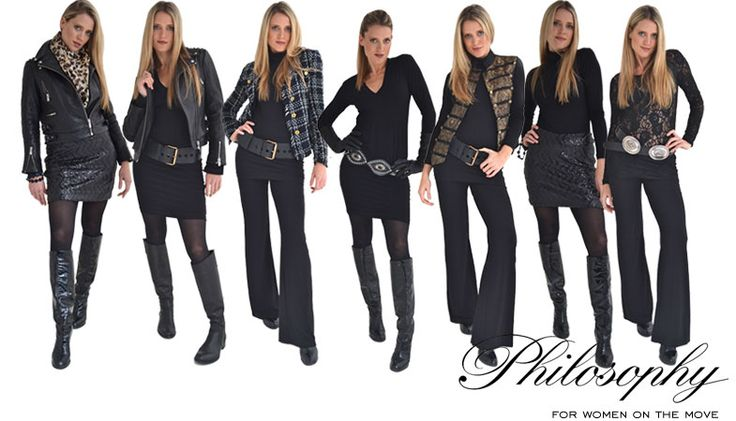 Basic Black : Black Leather Biker Jacket | Philosophy clothing - designer clothing for women on the move