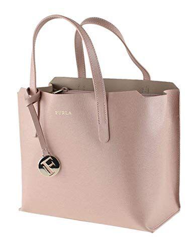 af6e27e923 Furla Sally S Saffiano Moonstone Leather Tote Bag