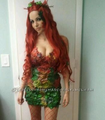 Me in my home made Poison Ivy costume.  Made from fake plants from the Dollar store and a glue gun.