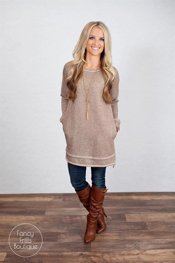 These tunic sweaters are SURE to make you the envy around town this season! The bold colors are a definite must to get your through the rest of winter. Rock it with some skinny jeans for a stunning dressy look, or pair it with leggings for an adorable yet comfy outfit! Either way you wear it, it is sure to be your new go-to sweater! Perfect, flattering fit to keep you comfortable all day and night. The sweater is is super soft and warm, like a sweatshirt, while still looking classy! The...