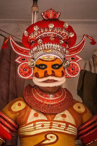 preparation of Theyyam-kannur-kerala-south india