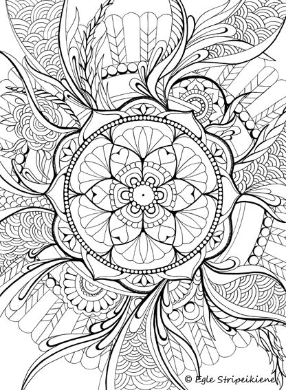 1172 best mandalas images on Pinterest Coloring books, Mandala - best of mini mandala coloring pages