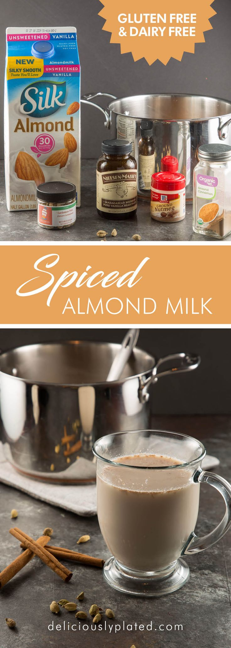 A warm and inviting #spicedalmondmilk for those chilly . It's #vegan and #paleo too! #winter days! #dairyfree #glutenfree via @leslie9612
