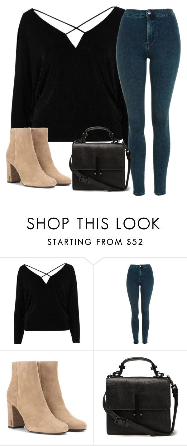 """heiiiyyy"" by morningstaryasmine ❤ liked on Polyvore featuring River Island, Topshop and Yves Saint Laurent"