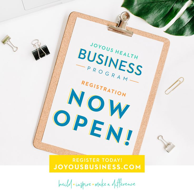 Registration for the Joyous Health Business program is OPEN! This is a 6 week online program for wellness entrepreneurs to turn their passion into a thriving business!  The Joyous Health Business program starts on October 10th 2017!
