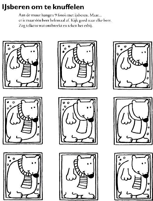 Werkblad visueel: Ijsbeer