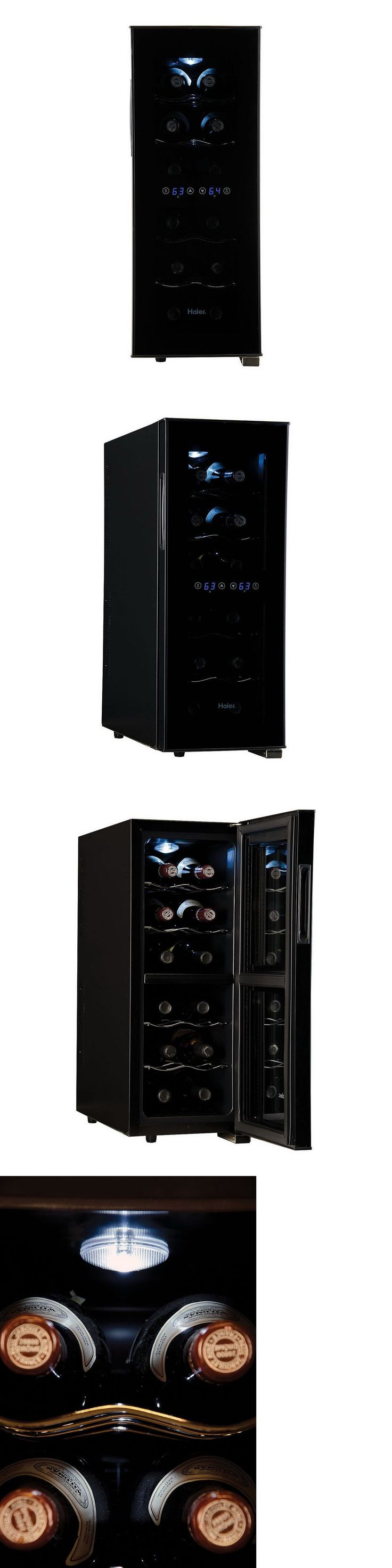 Wine Fridges and Cellars 177750: Haier 12 Bottle Dual Zone Wine Fridge 2 Compartment Cooler Refrigerator 4 Shelf -> BUY IT NOW ONLY: $165.89 on eBay!