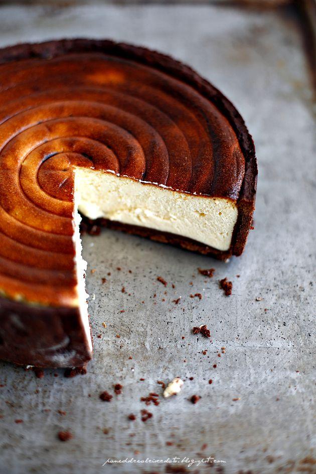 PANEDOLCEALCIOCCOLATO: Torta alla ricotta con frolla integrale al cioccolato  - cake alla ricotta