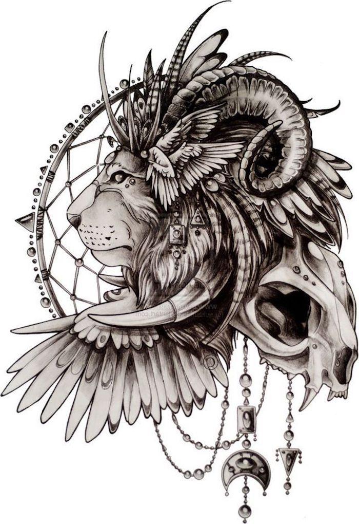 coole loewen tattoo ideen zur inspiration love