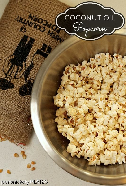 Learn how to make coconut oil popcorn - a healthy, guiltless snack!