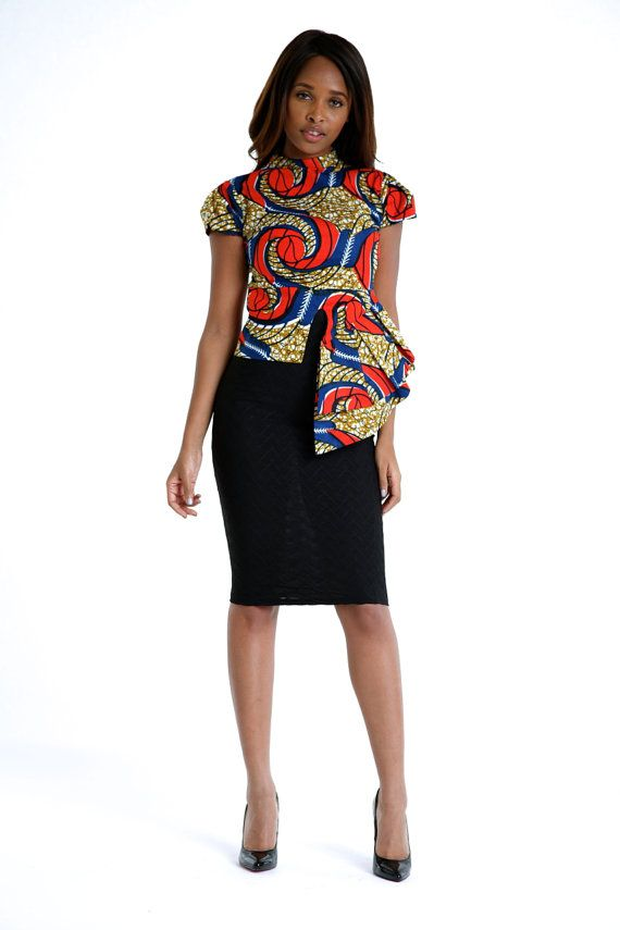 African Print High Low Top by Bongolicious1 on Etsy, $55.00  This top is very elegant!