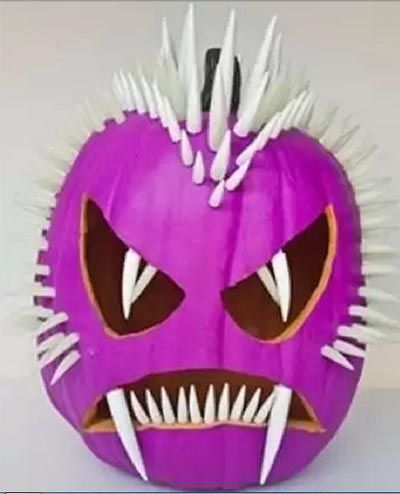 10 originales ideas para decorar una calabaza en Halloween. | Mil Ideas de Decoración