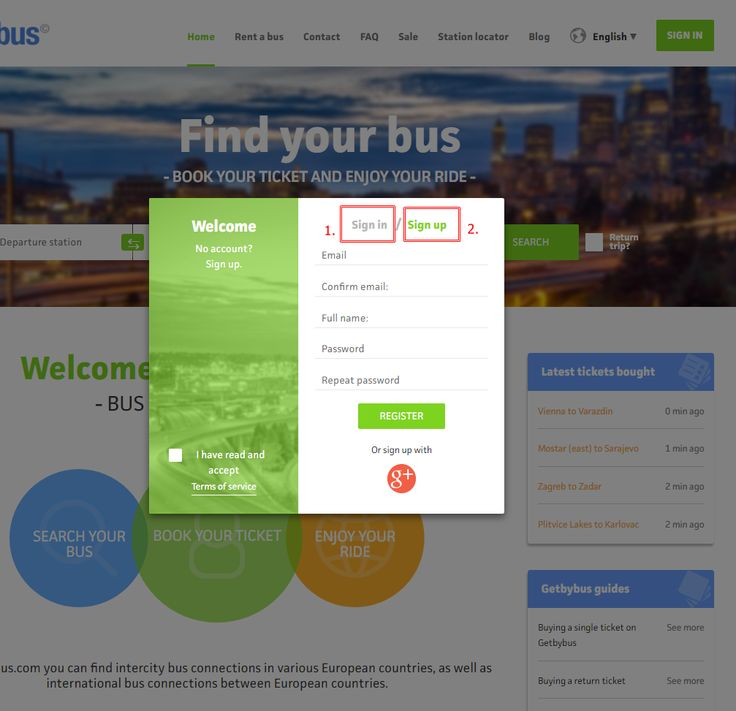 How to buy a single bus ticket online on Getbybus.com