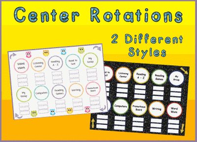 Center or Station Rotation Charts Promethean ActivInspire ActivBoard Flipchart File Lesson - AmazingClassroom.com Whiteboard