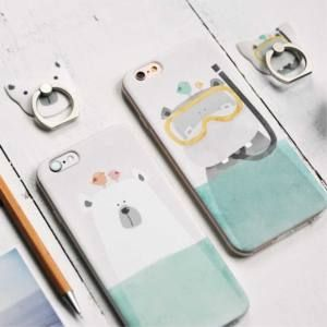 Maoxin Polar Bear - iPhone 6/6S színes tok, jegesmedve