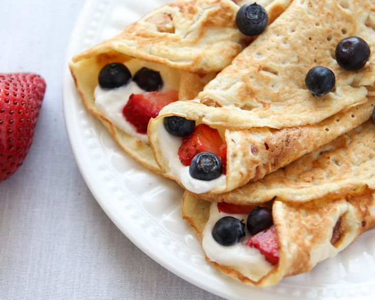 Coconut Flour Crepes that are gluten-free, paleo and low carb. Add your favorite fillings like whipped (coconut) cream and berries for a wholesome treat.