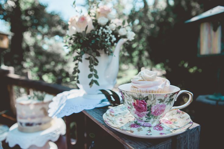 tea cup cupcake styled bridal tea party editorial photoshoot