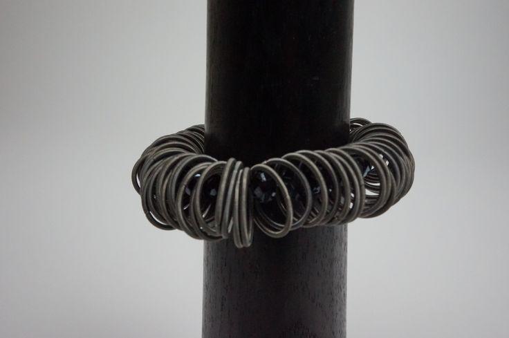 Lousje & Bean's new unique Canadian Made Jewelry line....Ruby.... Available here: http://www.lousjeandbean.ca/bracelets/ #canadianmade #funckybracelets #uniquejewerly #lousjeandbean #boutique #stretchybracelet #navy #swarovski