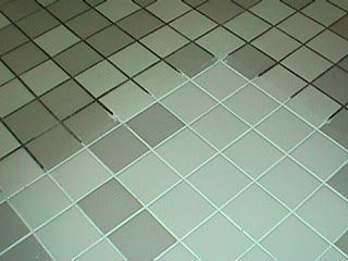 Natural grout & tile cleaner: 7 cups water, 1/2 cup baking soda, 1/3 cup lemon juice and 1/4 cup vinegar