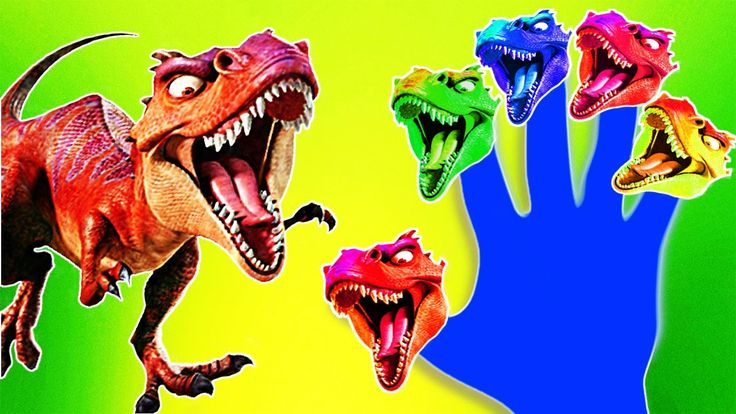 Gaint Dinosaurs Finger Family For Kids and Toddlers T-REX Cartoon Nurser...
