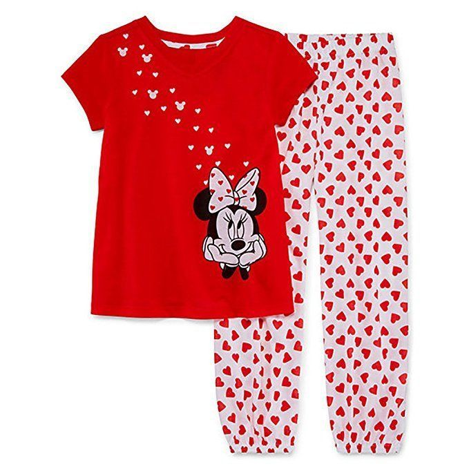 04e6f59d6700 Minnie Mouse Short Sleeve Pajama Set Disney for Girls Size 7 8 in ...