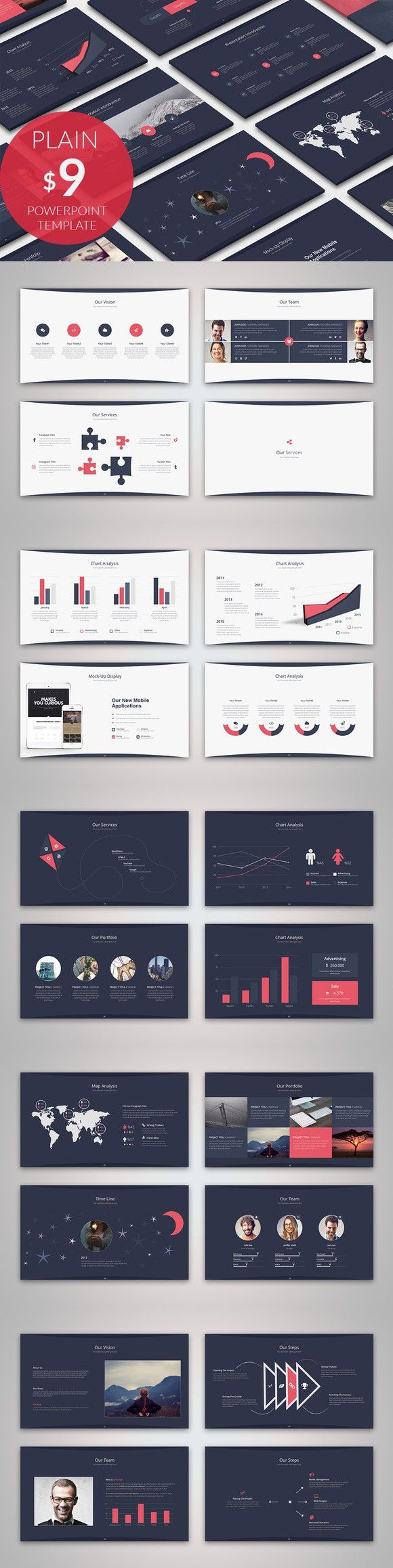 Plain Business Powerpoint Template. PowerPoint Templates. $9.00
