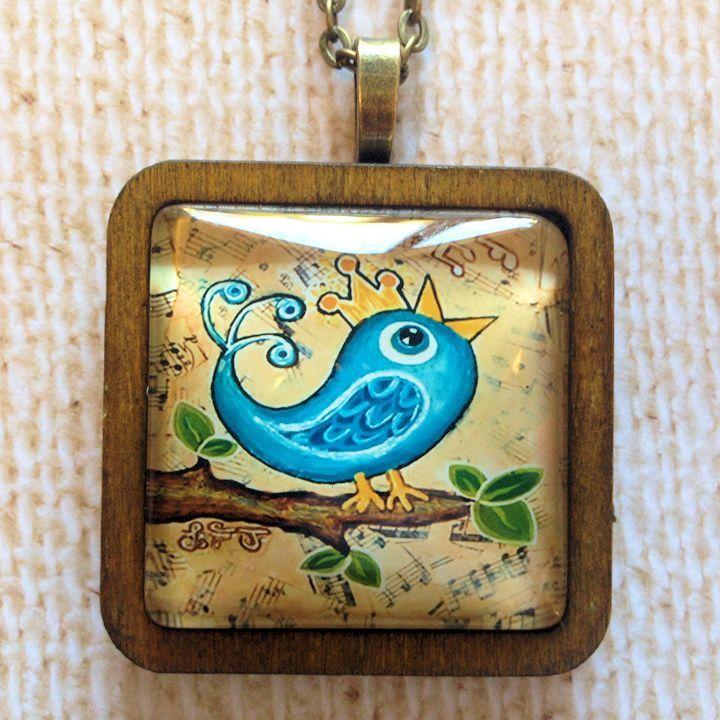 Joy Bird Pendant - Bronze
