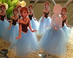 Tubetes decorados Frozen