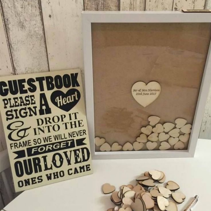 Such a cute idea for a guestbook.... I think I will save this for my 50th wedding anniversary :)