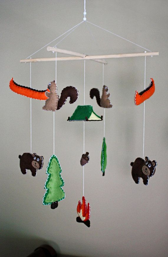 Camping / Woodsy / Rustic  Baby Mobile by EmilysSpace on Etsy