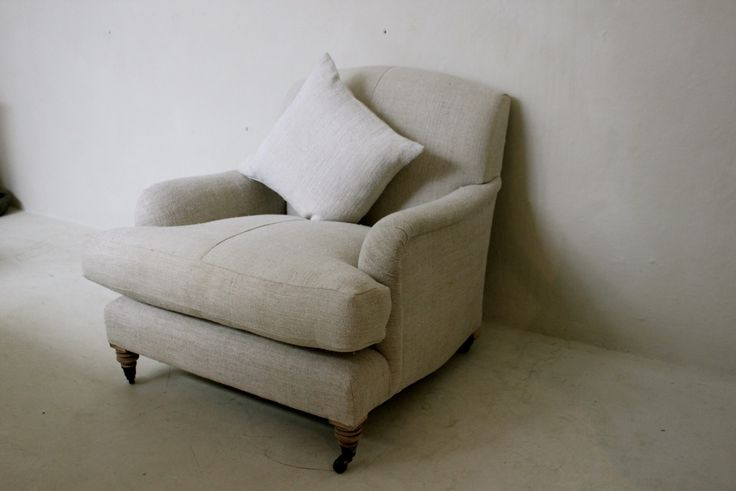 made to order howard chair in vintage linen igigi