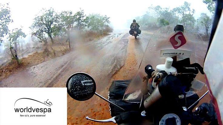 Vespa off-roading in Nigeria - Around the world on a Vespa   #VespaClub Volos http://vespaclubvolos.com/