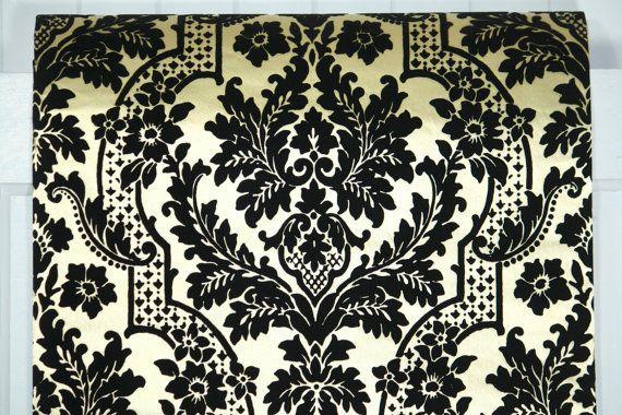 Schwarze Tapete Bestellen : Tapete wird von den Hof verkauft. Diese authentischen Vintage Tapete