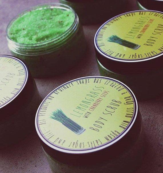Organic Body Scrub. Handmade Soap.Lemongrass Body by ASTPRODUCTS