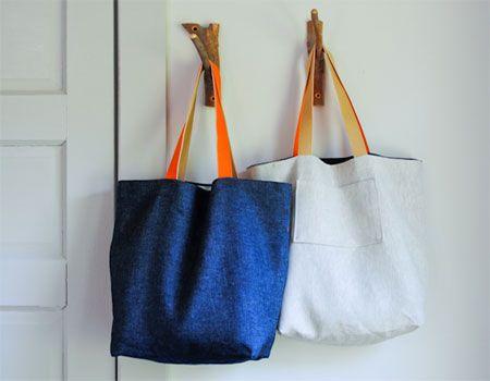 Home-Dzine - How to make a cotton, burlap or hemp tote bag