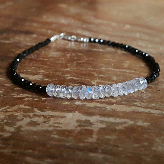 June Birthstone Bracelet Dainty Beaded Bracelet Jewelry Sterling Silver Bracelet Silver Bracelets For Women Genuine Moonstone Bracelet