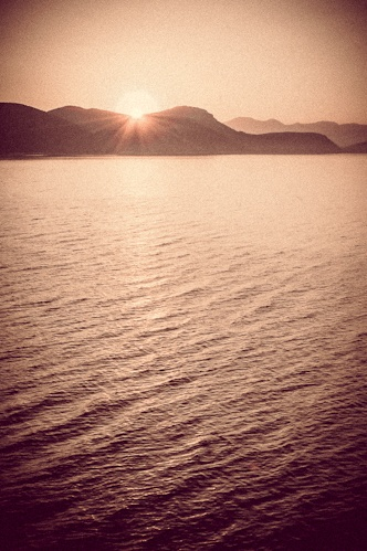 #Croatia, #Mljet island - Beautiful #sunrise just beyond the #mountains!