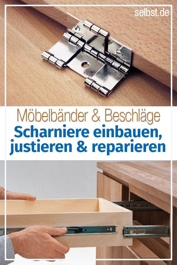 Möbelbänder, Scharniere & Beschläge