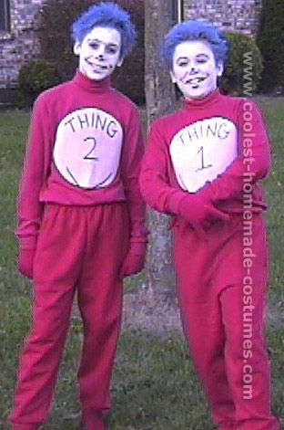 coolest 1000 homemade costumes you can make halloween ideascostume ideasquilting heres an awesome collection of thing 1 and thing 2 - Thing 1 Thing 2 Halloween Costume