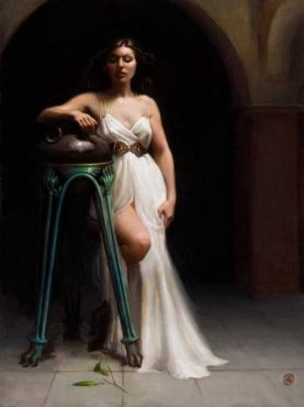 Isabella and the Pot of Basil - 30 x 40, Oil on Linen, Gallery ID#