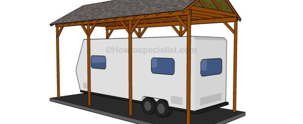 How to build a wooden carport | HowToSpecialist - How to Build, Step by Step DIY Plans